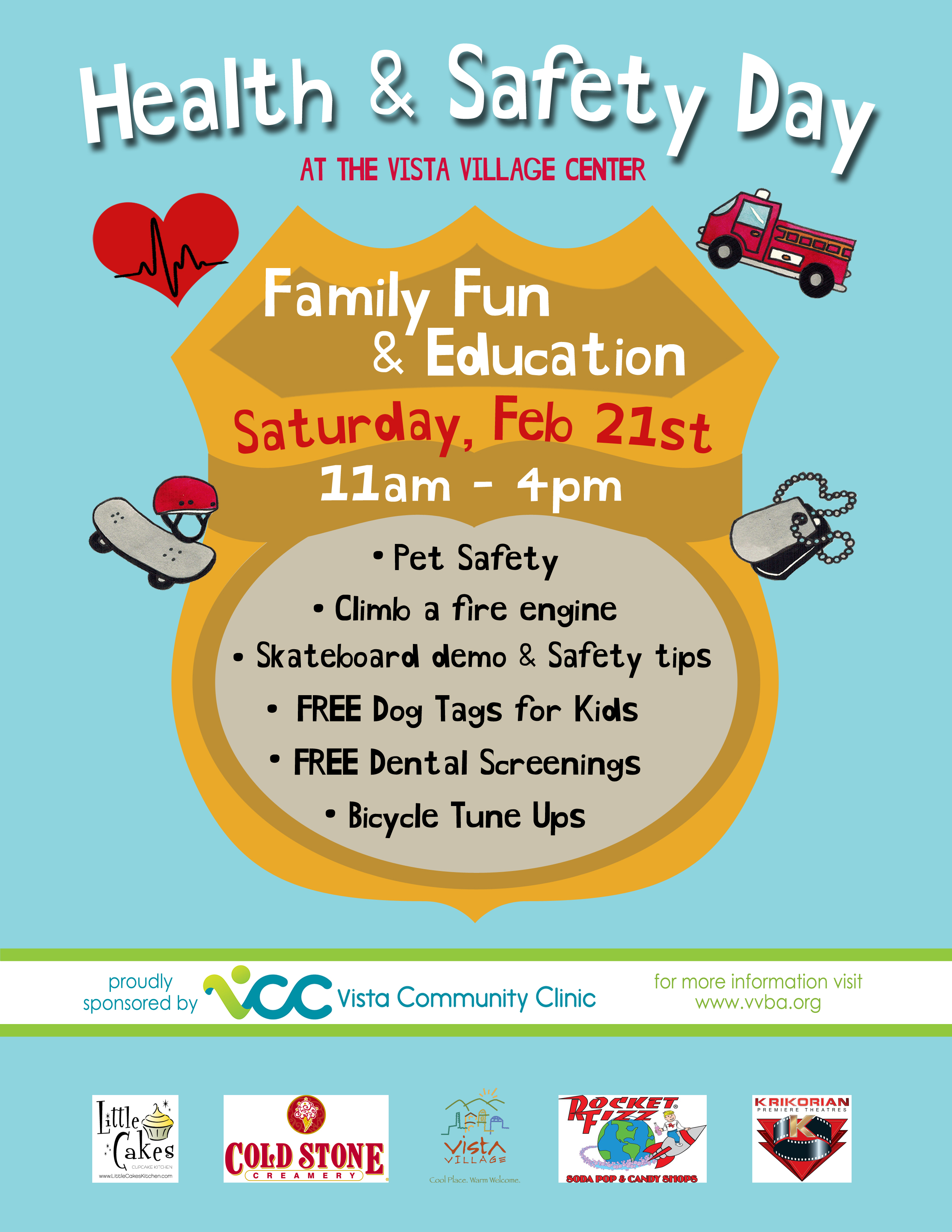 Health safety day vista community clinic for 1000 vale terrace dr vista ca 92084